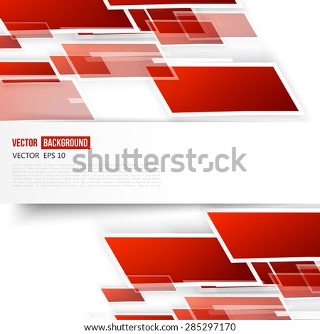 Vector Abstract geometric shape from red lines.