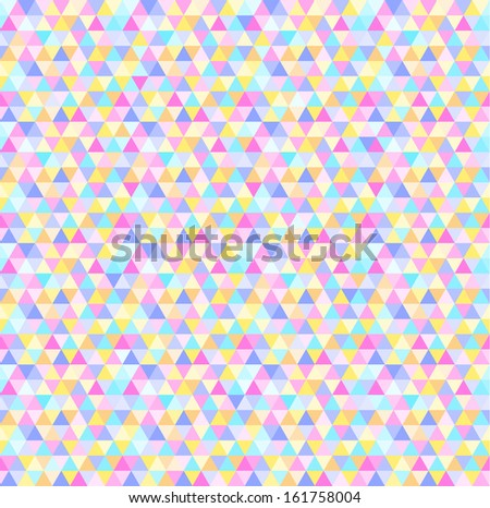 Vector abstract geometric triangle seamless pattern.
