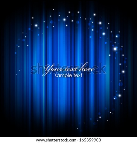 Vector abstract glowing background with magic lights - stock vector