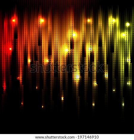 Vector abstract glowing disco background. Eps10 - stock vector