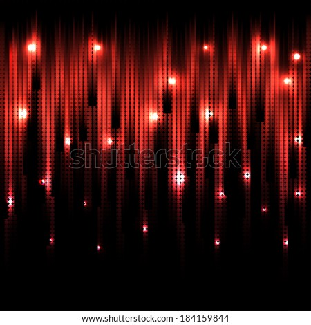 Vector abstract glowing red background. Eps10 - stock vector