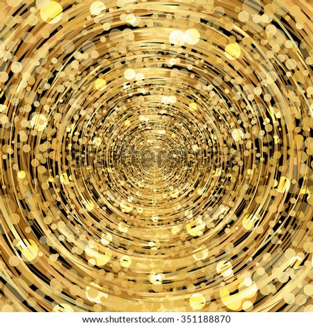 Vector abstract gold background - stock vector