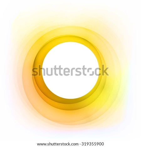 Vector Abstract Golden Circle. Good idea for greeting cards, invitations, banners. Free place for your text - stock vector