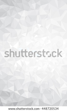 Vector abstract gray, triangles background. - stock vector