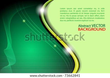 vector abstract green background - stock vector