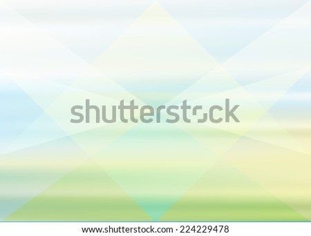 Vector abstract green blue background with triangles - stock vector