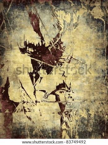 Vector abstract grunge background - stock vector