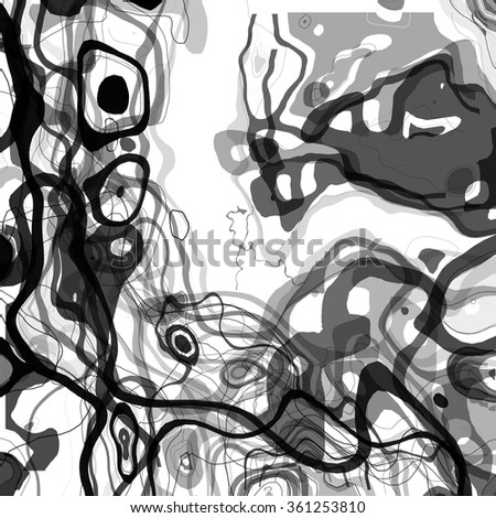 Vector abstract hand drawing decorative element. Creative design element. Ink background. Spot and line decor. - stock vector