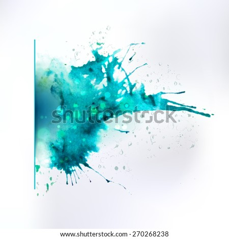 Vector abstract hand drawing splash element. Creative decor. Ink background for banner and pages.  - stock vector