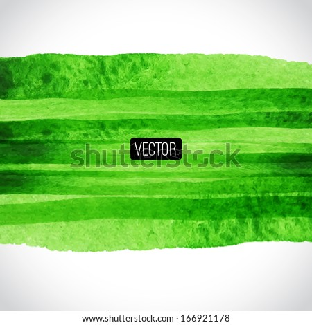 Vector abstract hand drawn background, summer background. Vector illustration. Watercolor backdrop, frame from watercolor stains. Brush stroke, design element. Template with place for your text.  - stock vector