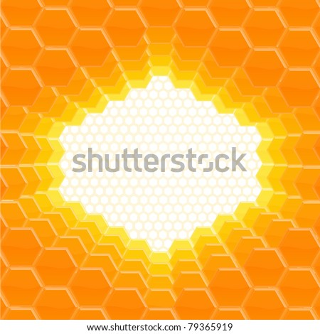 Vector abstract honey comb background - stock vector