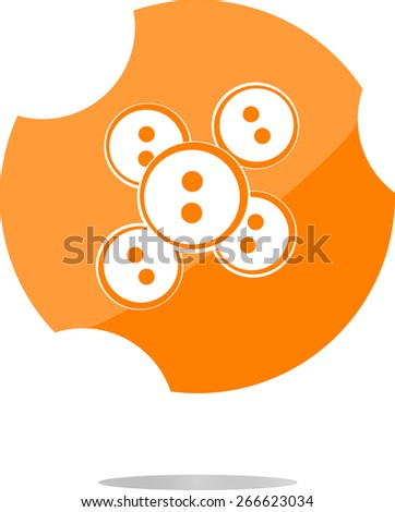 vector abstract icon on glossy web button - stock vector