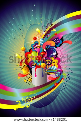 vector abstract illustration - stock vector