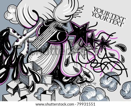 vector abstract illustration - stock vector