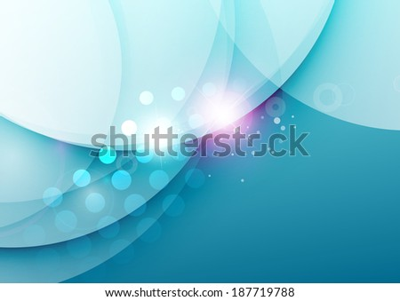 Vector abstract illustration of elegant color waves design with light flares