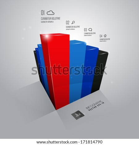 vector abstract infographic - stock vector