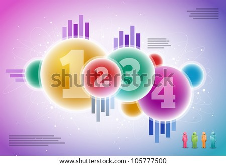 Vector abstract infographic elements. Elements are layered separately in vector file. - stock vector