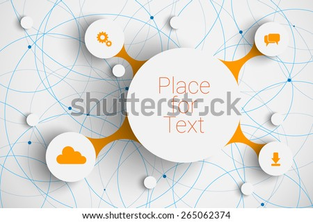 Vector abstract  infographic network template with place for your content - stock vector