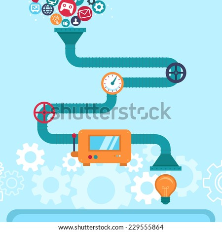 Vector abstract infographics in flat style -creative idea generator - stock vector