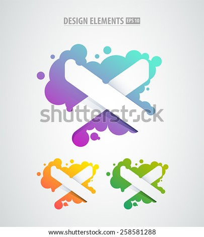 Vector abstract Letter X design template. Corporate identity logo sign - stock vector