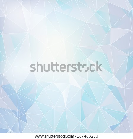 vector abstract light polygonal background - stock vector