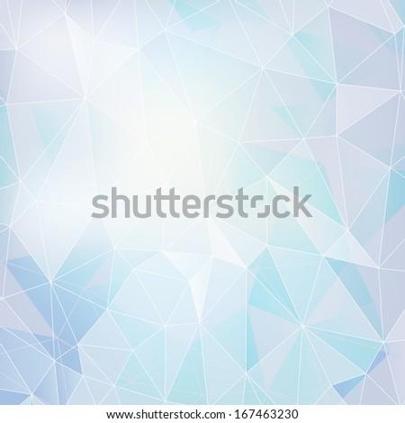 vector abstract light polygonal background - stock vector