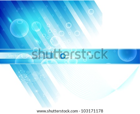 Vector abstract line and. Stripe blue curve - stock vector