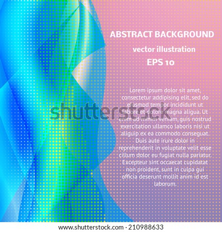 Vector Abstract line color design element . Abstract artistic background with space for text. Brochure cover design templates with abstract geometric banner. Geometric shape abstract backgrounds