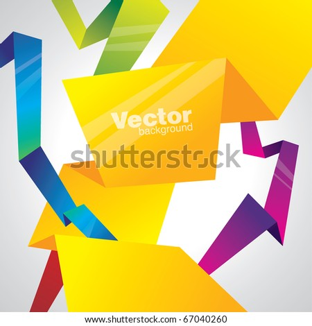 vector abstract lines - stock vector
