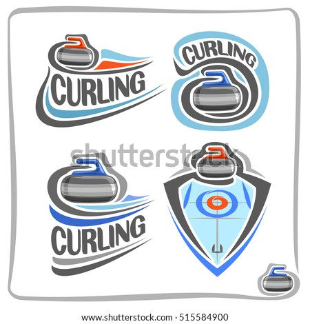 Vector Abstract Logo Curling Stone On Stock Vector 515584900 ...