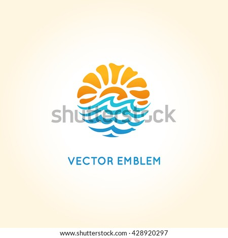 Sun water stock images royalty free images vectors for Bright illustration agency