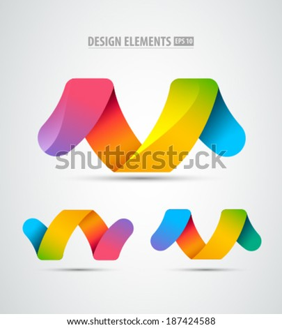 Vector abstract logo infinity design elements. Creative concept icons set.  - stock vector