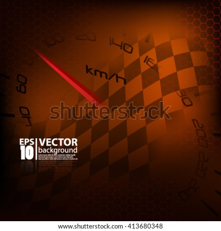 Vector abstract modern carbon metallic geometric and racing background - Eps10 - stock vector