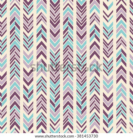 Vector abstract modern seamless chevron pattern in bright colors. - stock vector