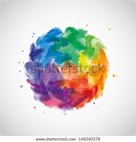 vector abstract multicolor watercolor background