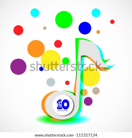 Vector abstract music background with place for your text. Eps 10 - stock vector