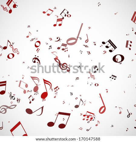 Vector abstract musical background - stock vector