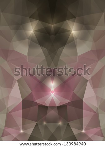 vector abstract mystical crystal background - stock vector