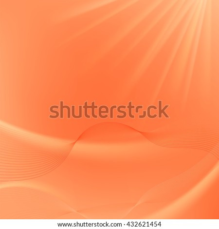 Vector Abstract Orange Blurred Background. Abstract Wave Pattern