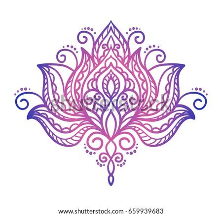 Vector abstract oriental style flower lotus stock vector 659939683 vector abstract oriental style flower lotus tattoo design element mightylinksfo
