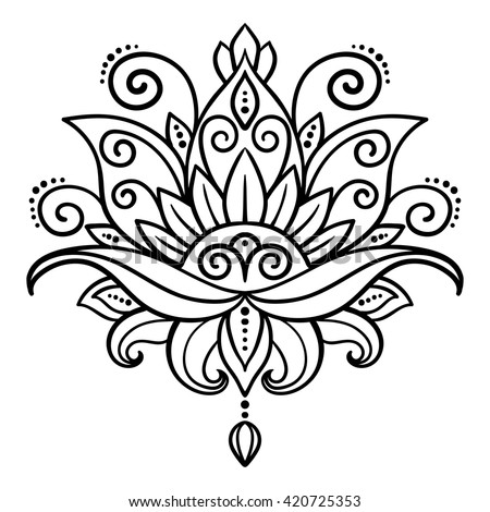 lotus tattoo stock images royaltyfree images amp vectors