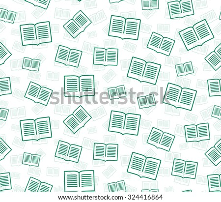 Vector abstract pattern. Grid seamless vector texture. Ornamental tiles and wallpaper on the wall. Unusual ornament. A rain of books.