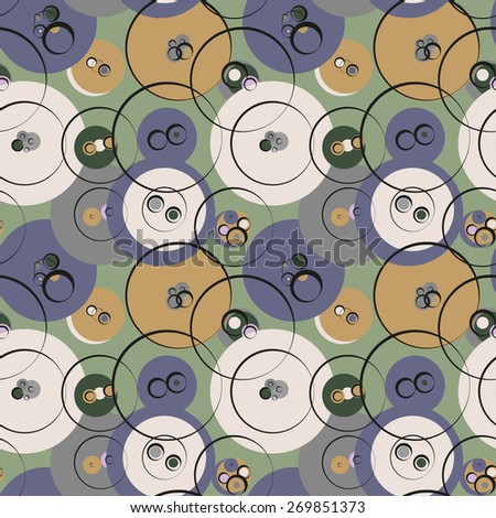 vector abstract pattern of buttons in pastel colors