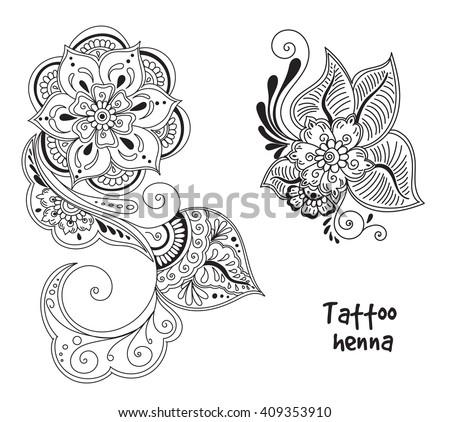 henna flower stock images royalty free images vectors shutterstock. Black Bedroom Furniture Sets. Home Design Ideas