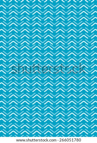 Vector abstract pattern, Water wave pattern, Blue wave wallpaper theme - stock vector