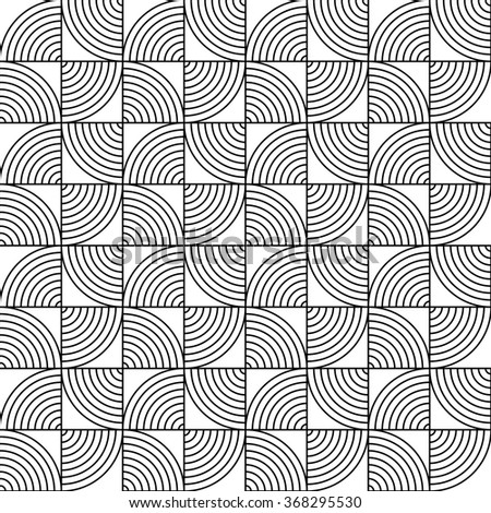 vector abstract pattern, waves. Circle pattern background. - stock vector
