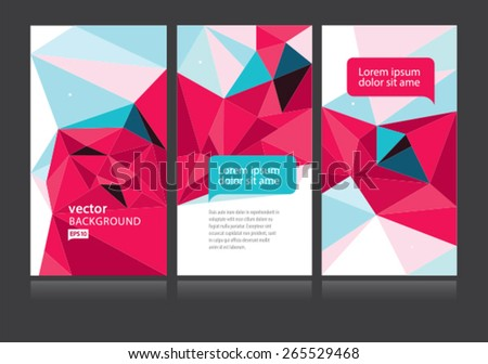 Vector Abstract Poly Geometric Background Set
