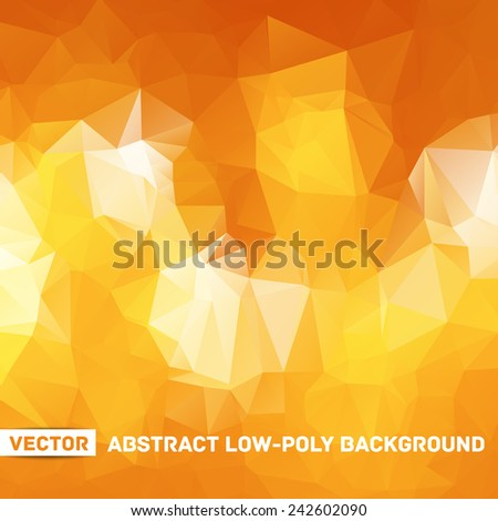 Vector abstract polygonal background - stock vector