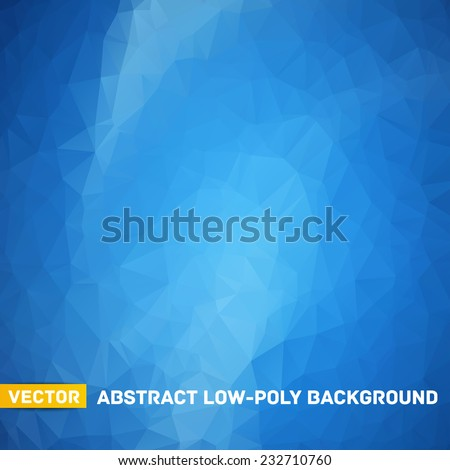 Vector abstract polygonal blue background - stock vector