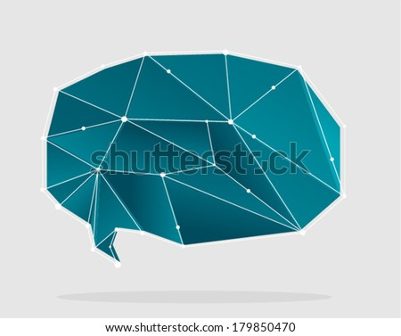 vector abstract polygonal shapes 1 - Separate layers for easy editing - stock vector